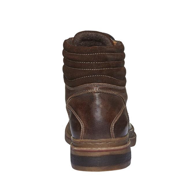 Sznurowane zimowe botki bata, brązowy, 894-4109 - 17