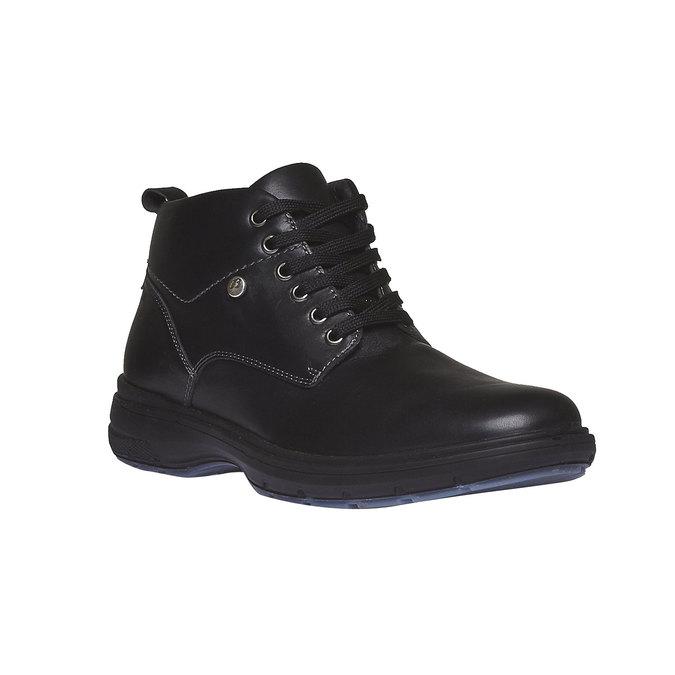 Skórzane botki bata, czarny, 894-6226 - 13