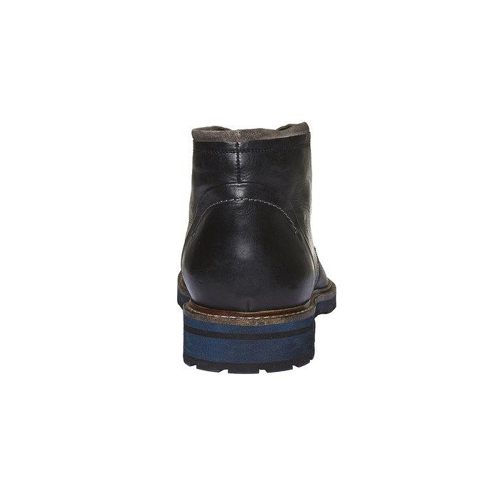Skórzane buty w stylu Chukka bata, czarny, 894-6126 - 17