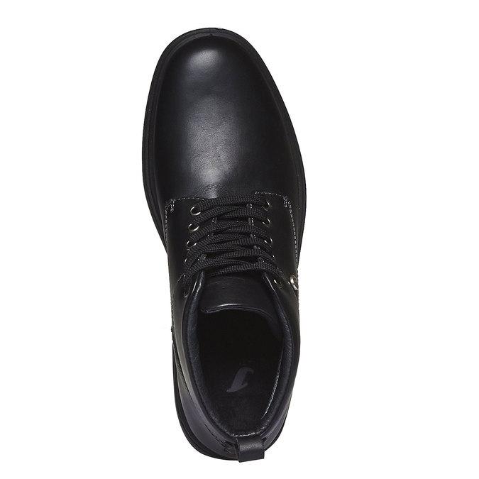 Skórzane botki bata, czarny, 894-6226 - 19