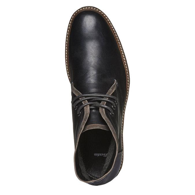 Skórzane buty w stylu Chukka bata, czarny, 894-6126 - 19