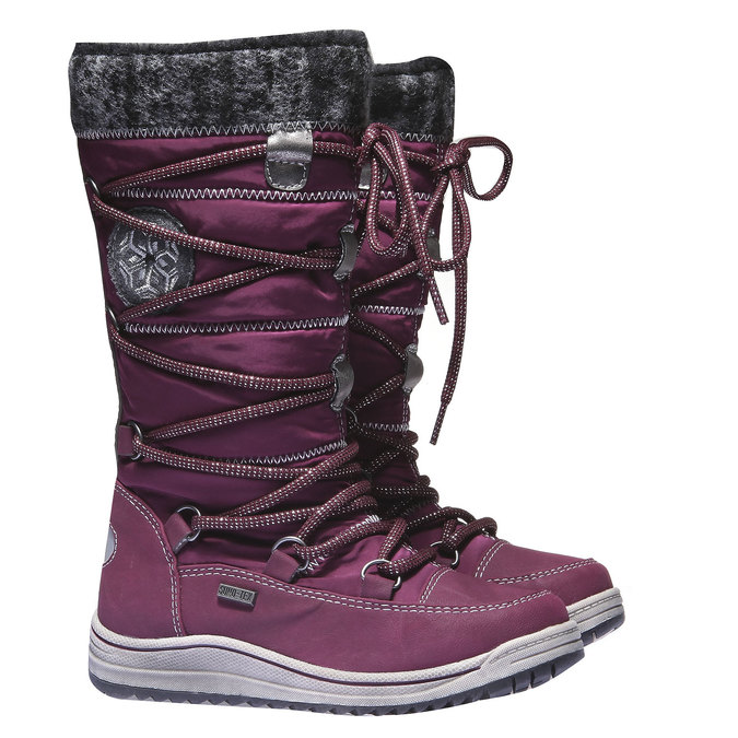 Dziewczęce buty zimowe mini-b, fioletowy, 299-9142 - 26