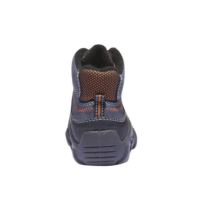 Dziecięce wysokie skórzane buty mini-b, niebieski, 416-9100 - 17