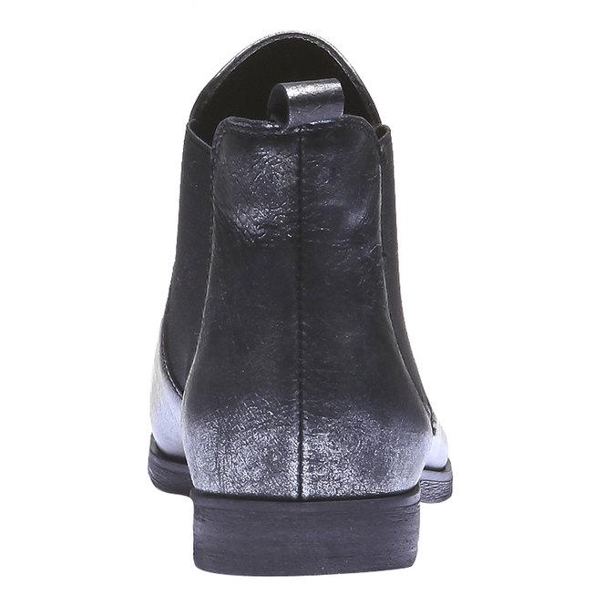 Damskie skórzane buty Chelsea bata, czarny, 594-6107 - 17