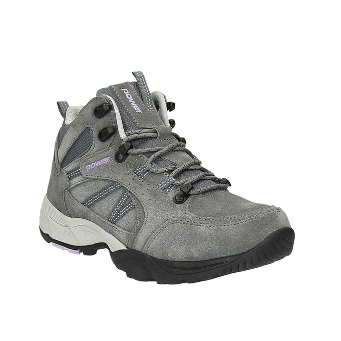 Skórzane buty do kostki w stylu Outdoor power, szary, 503-2830 - 13