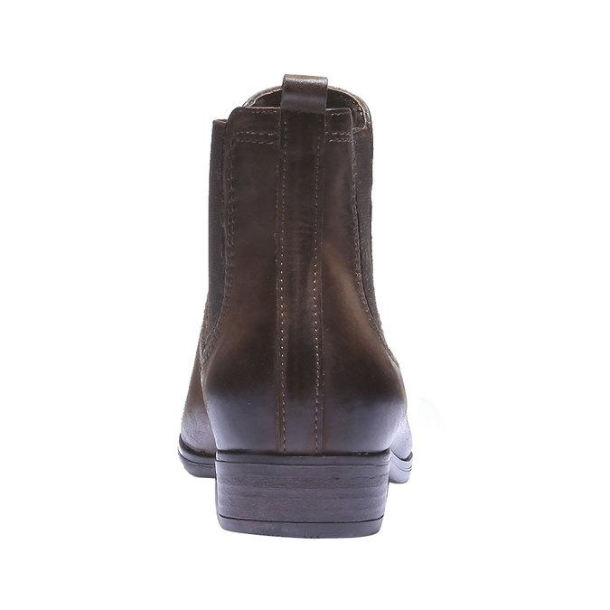 Damskie skórzane buty Chelsea bata, brązowy, 594-4110 - 17