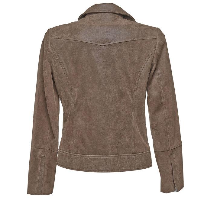 Damska skórzana kurtka bata, brązowy, 973-4107 - 26