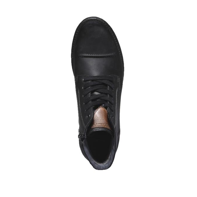 Skórzane buty na co dzień bata, czarny, 894-6555 - 19