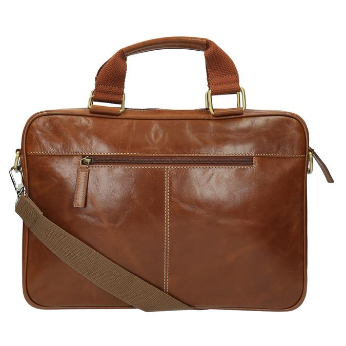Brązowa torba męska ze skóry bata, brązowy, 964-3204 - 26