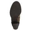 Skórzane botki na szerokim obcasie bata, brązowy, 799-3612 - 26