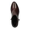 Botki ze skóry na niskim obcasie bata, czerwony, 696-5613 - 19