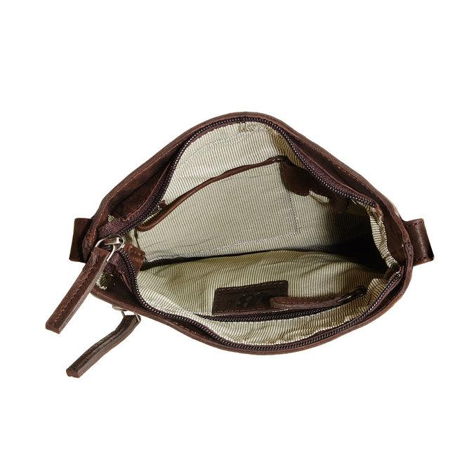 Skórzana torba listonoszka bata, brązowy, 964-4113 - 15