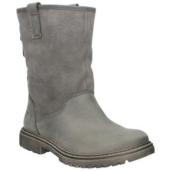 Zimowe skórzane buty damskie weinbrenner, 596-0100 - 13