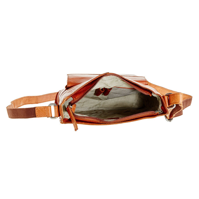 Męska skórzana torba Crossbody bata, brązowy, 964-3141 - 15