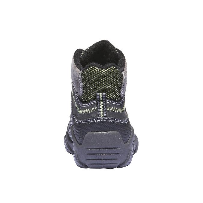 Dziecięce wysokie skórzane buty mini-b, szary, 216-2100 - 17