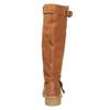 Skórzane kozaki damskie zociepliną bata, brązowy, 593-3600 - 17