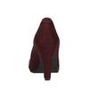 Bordowe czółenka zpaskiem na podbiciu bata, czerwony, 729-5601 - 17
