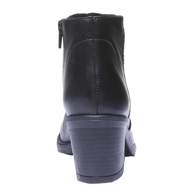 Skórzane botki bata, czarny, 794-6284 - 17
