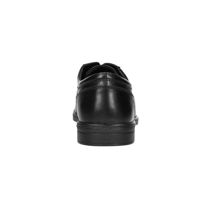 Półbuty męskie ze skóry bata, czarny, 824-6744 - 17