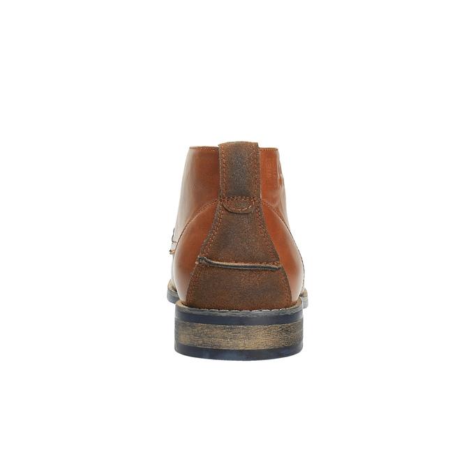 Nieformalne brązowe półbuty za kostkę bata, brązowy, 891-3600 - 17