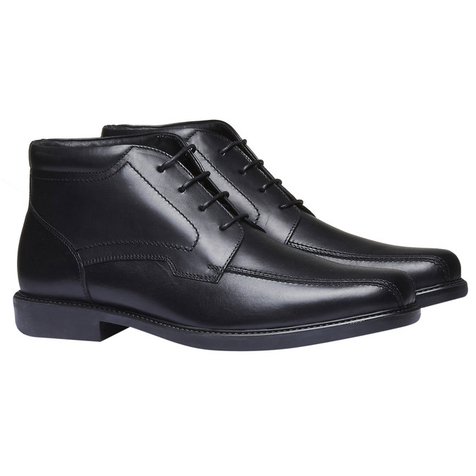 Skórzane buty za kostkę bata, czarny, 894-6242 - 26