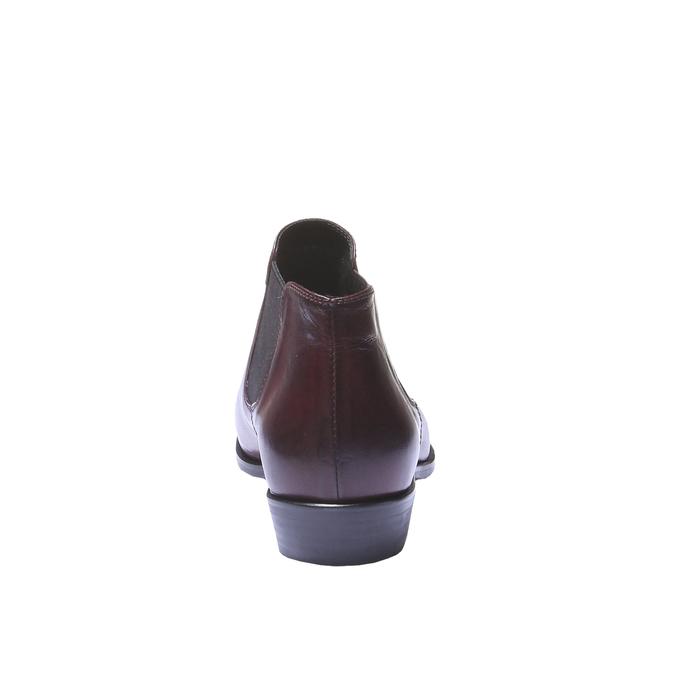 Skórzane buty w stylu Chelsea bata, czerwony, 594-5106 - 17