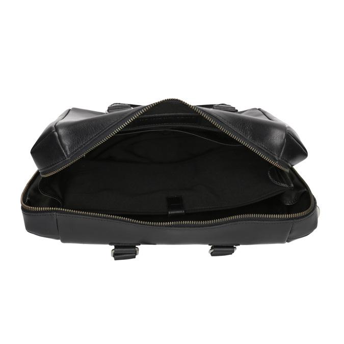 Skórzana torebka z odpinanym paskiem royal-republiq, czarny, 964-6039 - 15