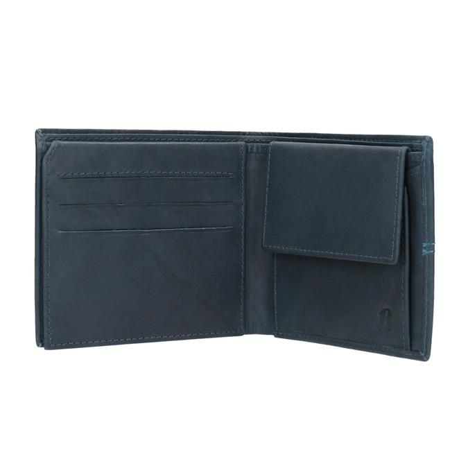 Skórzany portfel zprzeszyciami bata, niebieski, 944-9176 - 15