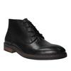 Skórzane buty za kostkę wstylu chukka bata, czarny, 824-6677 - 13