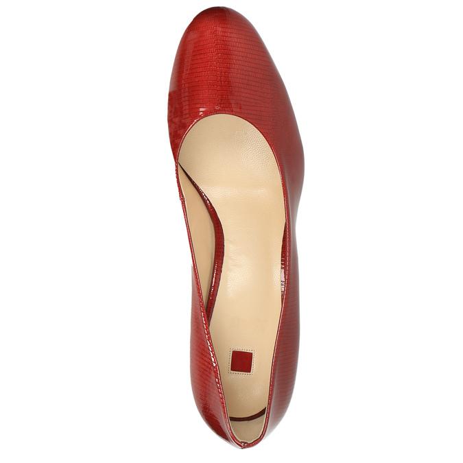 Damskie skórzane czółenka hogl, czerwony, 728-5003 - 19