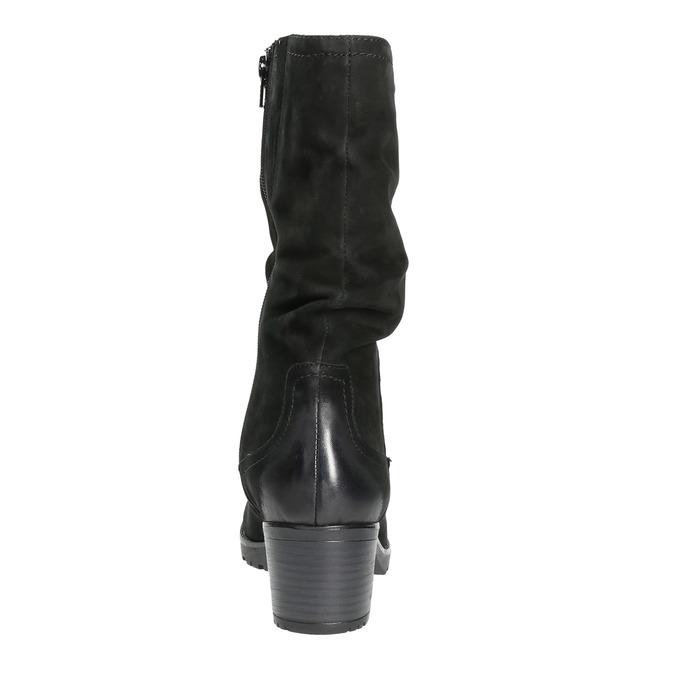 Skórzane botki bata, czarny, 696-6101 - 17