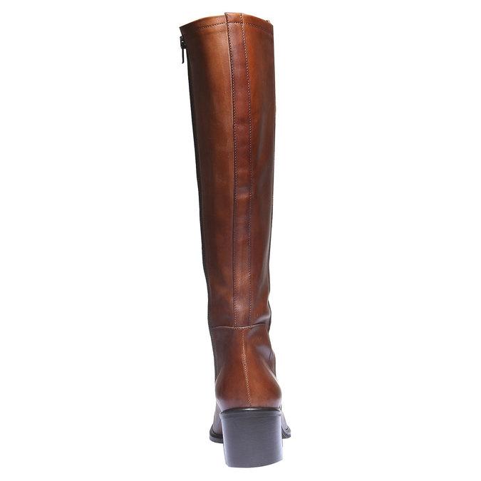 Skórzane kozaki bata, brązowy, 694-3252 - 17