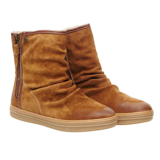 Skórzane botki bata, brązowy, 593-4103 - 26