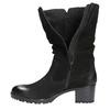 Skórzane botki bata, czarny, 696-6101 - 19