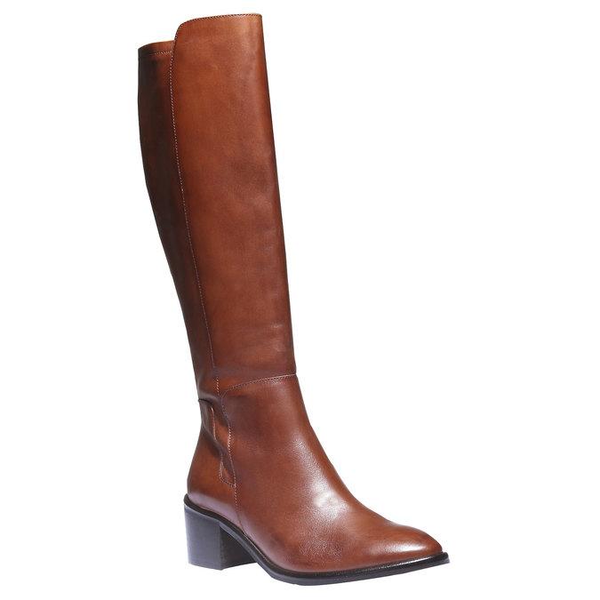 Skórzane kozaki bata, brązowy, 694-3252 - 13