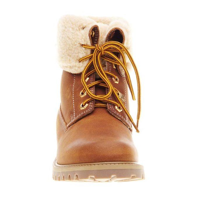 Skórzane buty z futerkiem weinbrenner, brązowy, 594-3823 - 16