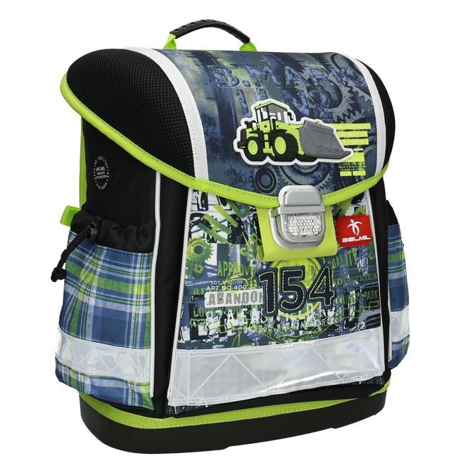Plecak szkolny dla dzieci, zelementami odblaskowymi belmil, 969-9626 - 13
