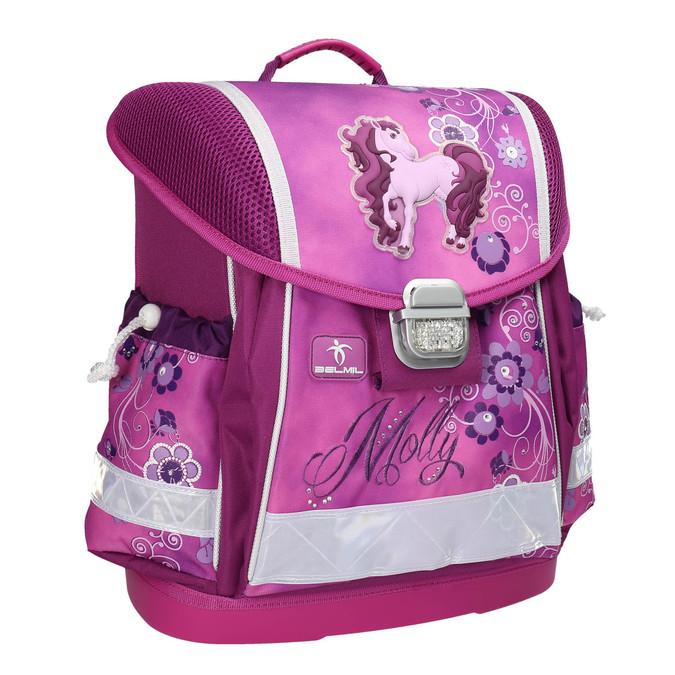 Różowy plecak szkolny dla dzieci belmil, różowy, 969-5623 - 13