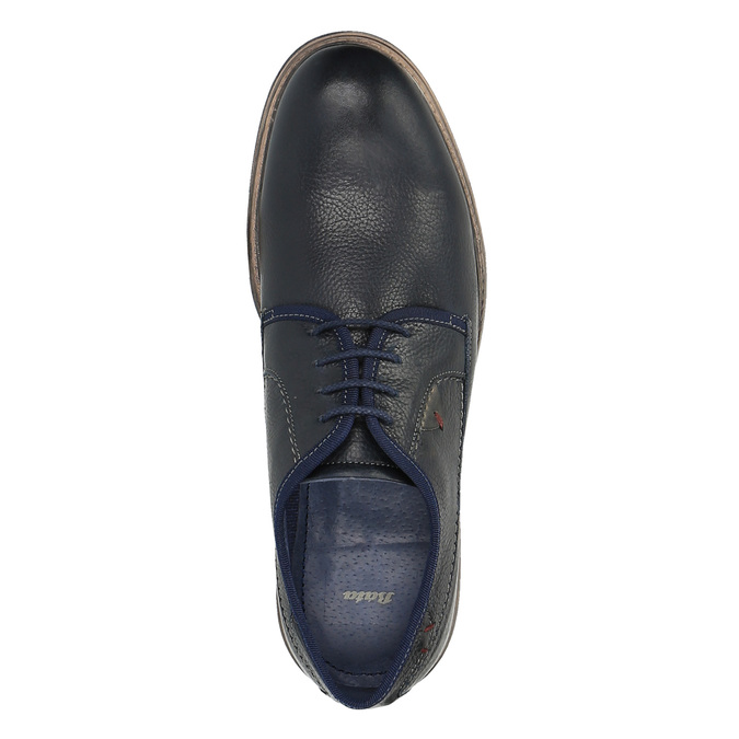 Skórzane niebieskie półbuty w swobodnym stylu bata, niebieski, 824-9699 - 19