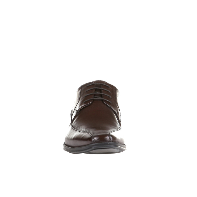 Skórzane półbuty w swobodnym stylu na wyrazistej podeszwie bata, brązowy, 824-4698 - 16