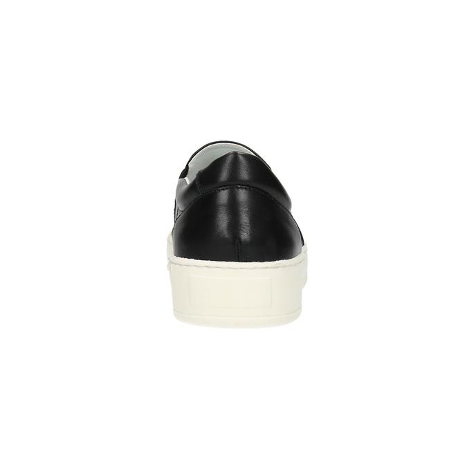 Slip-on męskie ze skóry bata, czarny, 844-6630 - 17