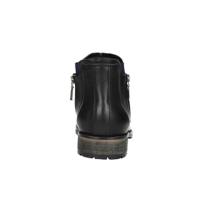Męskie buty o długości do kostki bata, czarny, 894-6656 - 17