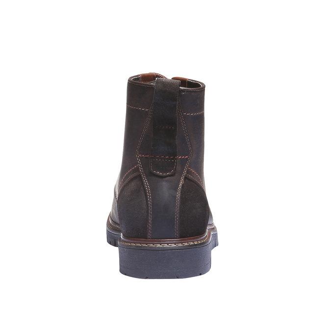 Skórzane botki bata, brązowy, 894-4360 - 17