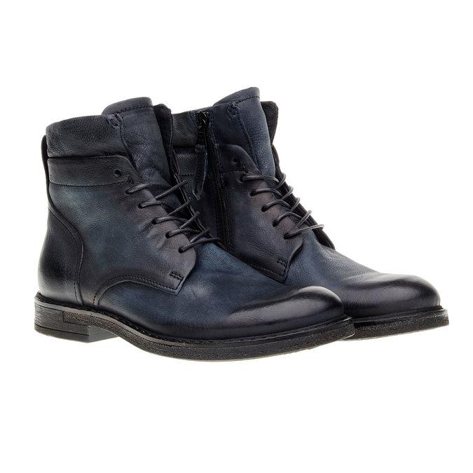 Skórzane buty męskie za kostkę bata, czarny, 894-6368 - 26