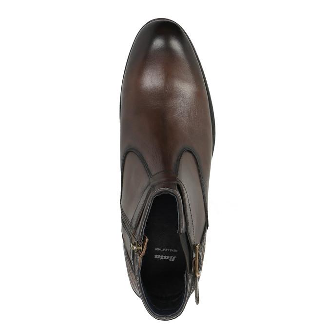 Męskie botki ze sprzączką bata, brązowy, 894-4652 - 19