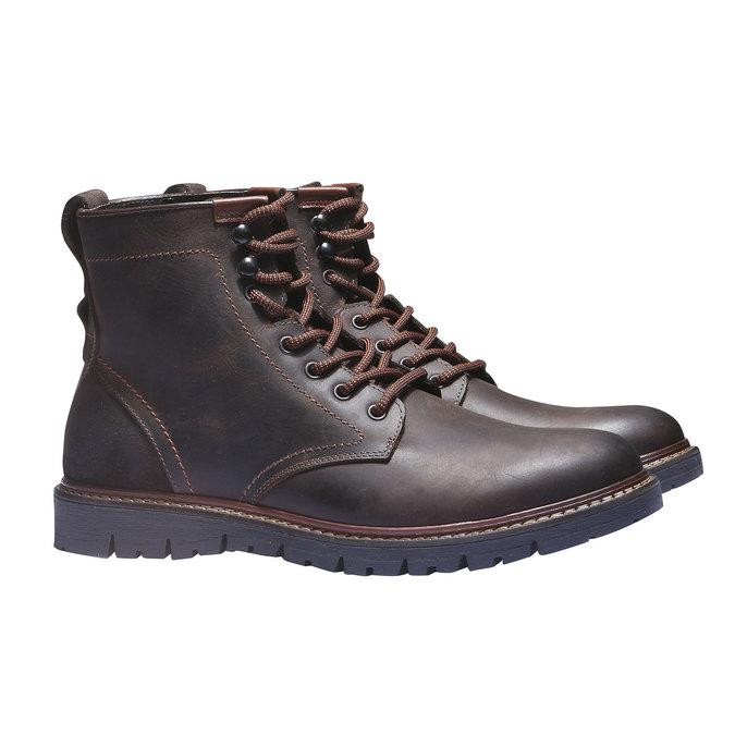 Skórzane botki bata, brązowy, 894-4360 - 26