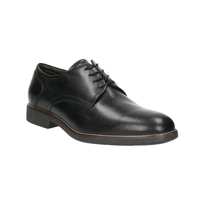 Skórzane półbuty w stylu Derby, czarny, 824-6616 - 13