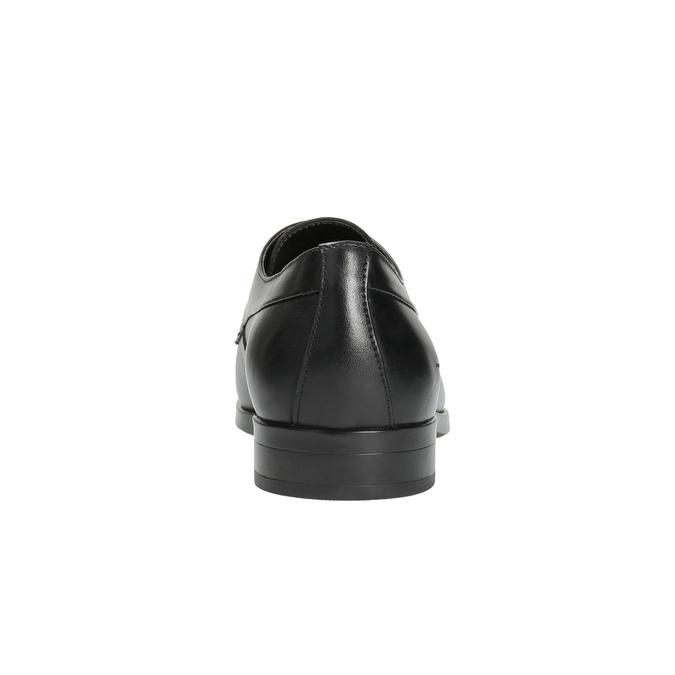 Czarne półbuty męskie ze skóry bata, czarny, 824-6711 - 17