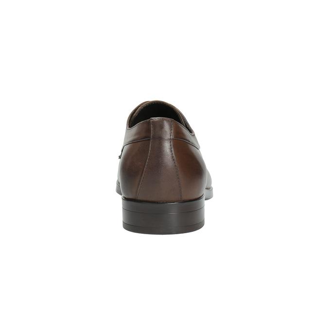 Brązowe półbuty ze skóry bata, brązowy, 824-4711 - 17