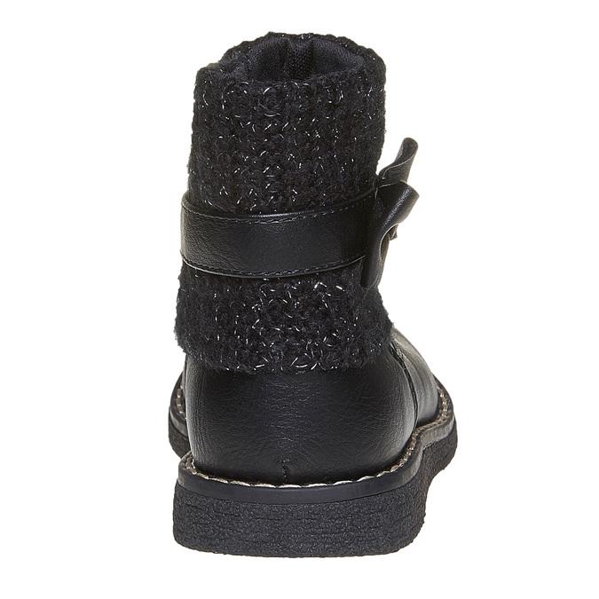 Dziecięce buty z dzianiną mini-b, czarny, 291-6154 - 17